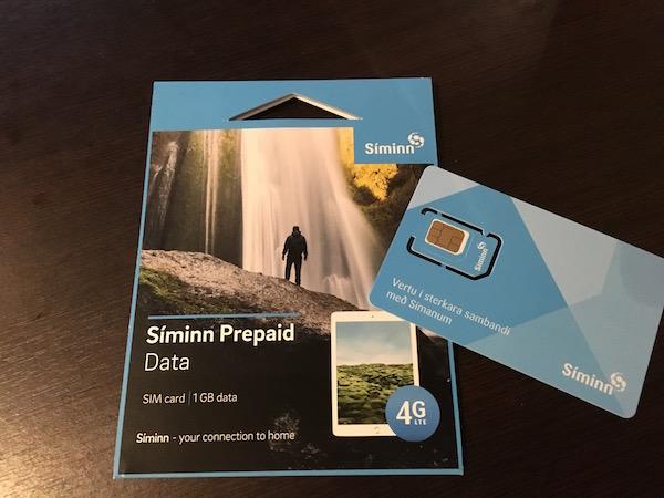 アイスランドSIMカード