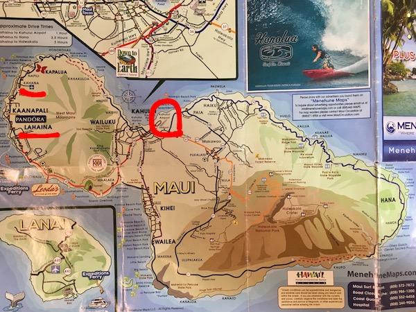 マウイ島地図