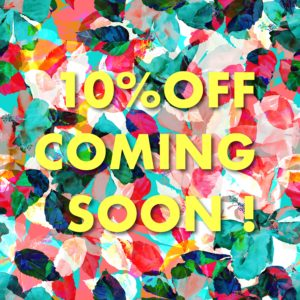 10%OFF coming soon